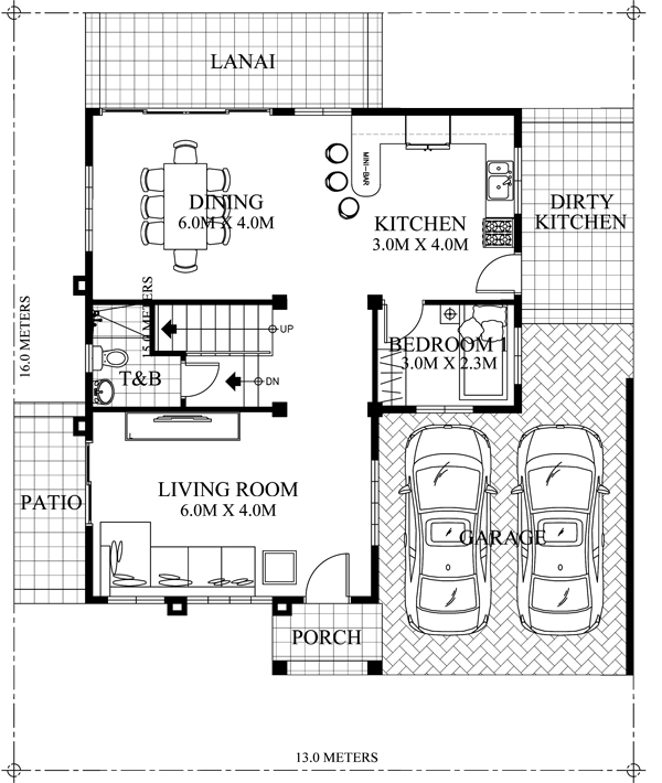 Marcelino classic 4 bedroom house plan pinoy eplans for E plan house plans